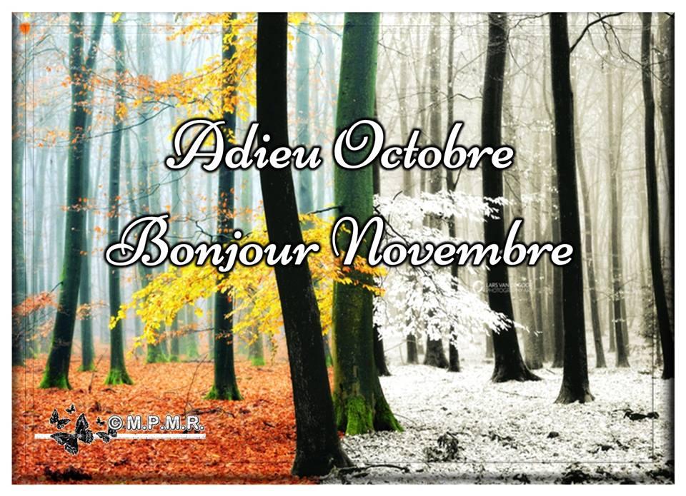 Adieu Octobre, Bonjour Novembre