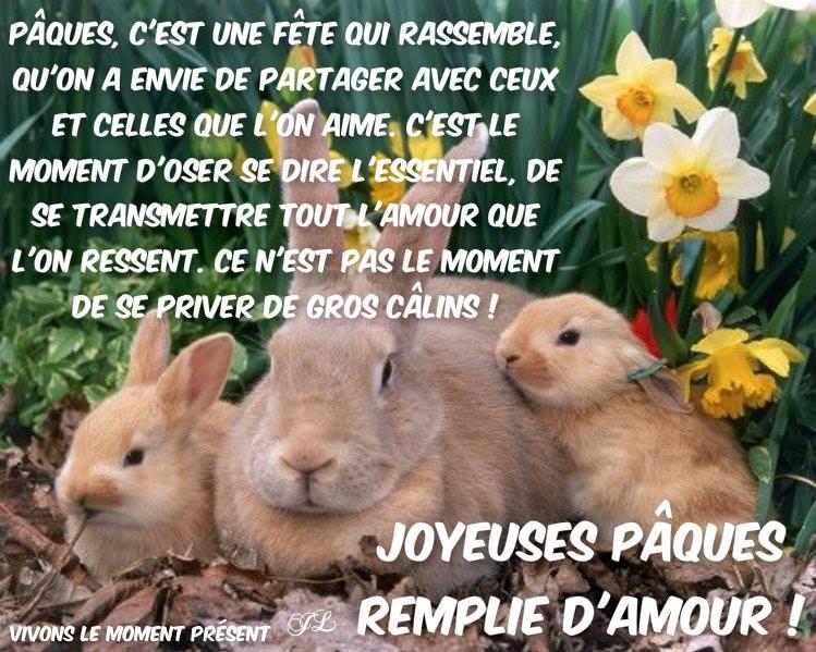 Joyeuses Pâques remplie d'amour!