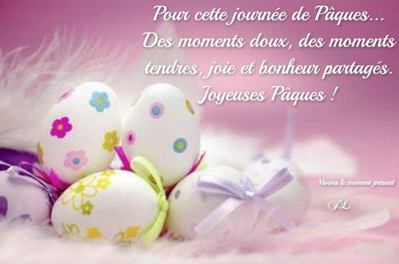 Pour cette journée de Pâques... Des moments doux, des moments tendres, joie et bonheur partagés. Joyeuses Pâques !