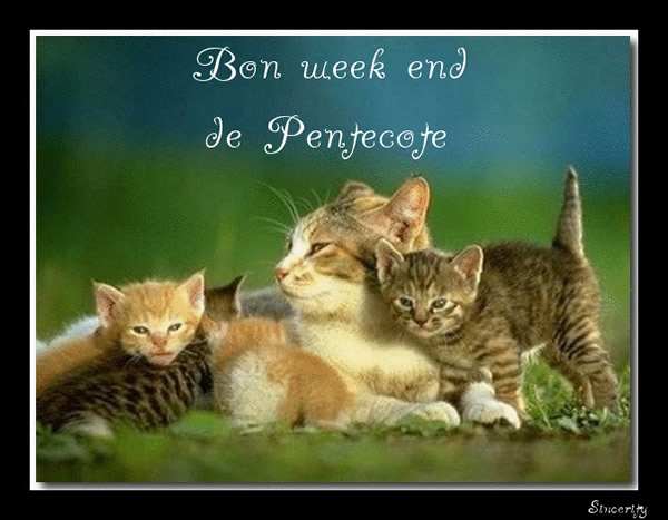 Bon week end de Pentecôte