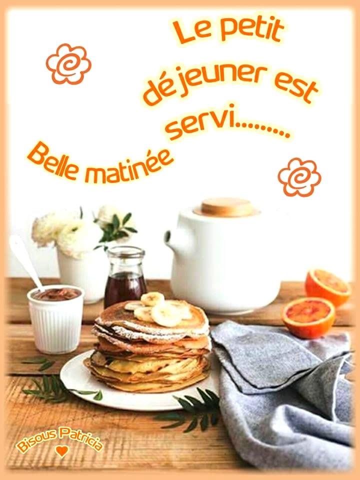 Le petit déjeuner est servi...