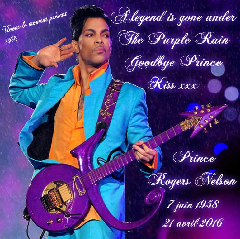 A legend is gone under The Purple Rain