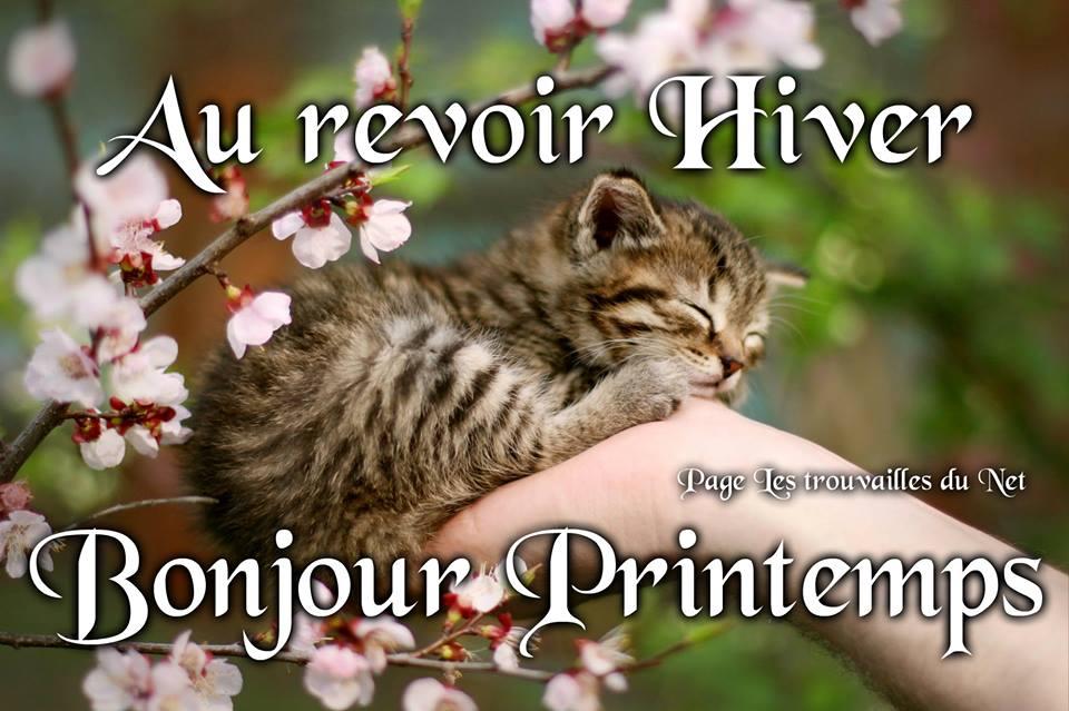 Au revoir Hiver, Bonjour Printemps