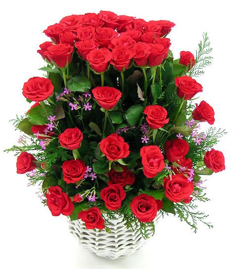 Bouquet de roses champêtre