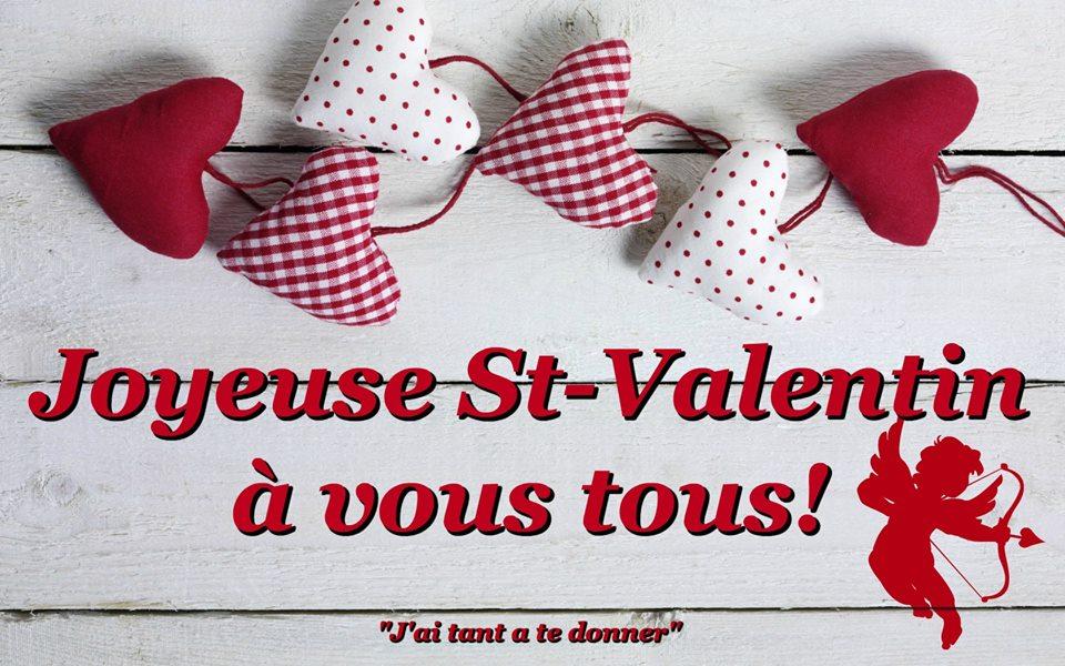 Joyeuse St-Valentin à vous tous!