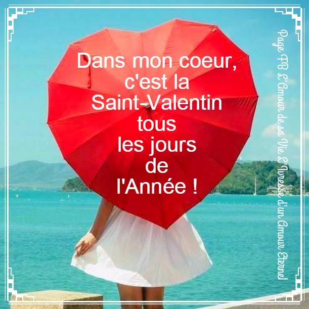 Dans mon coeur, c'est la Saint-Valentin tous les jours de l'Année !