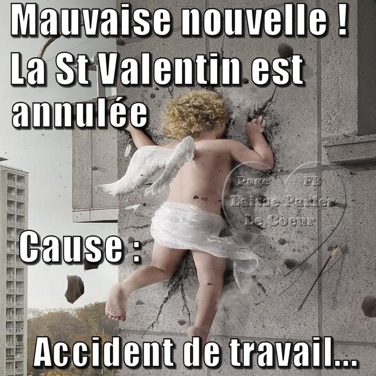 Mauvaise nouvelle ! La St Valentin est annulée