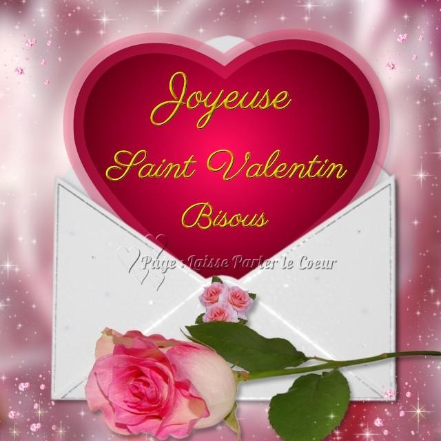 Joyeuse Saint Valentin. Bisous