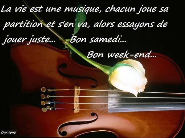 Bon samedi... Bon week-end