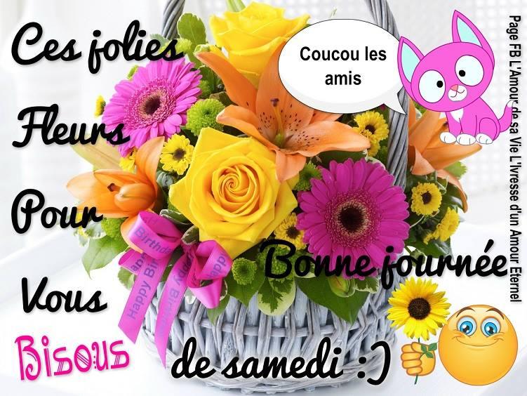 Ces jolies fleurs pour vous bonne journ e de samedi for Bouquet de fleurs humour