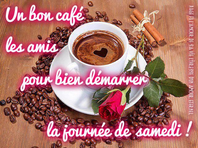 Un bon café les amis pour bien démarrer la journée de samedi !