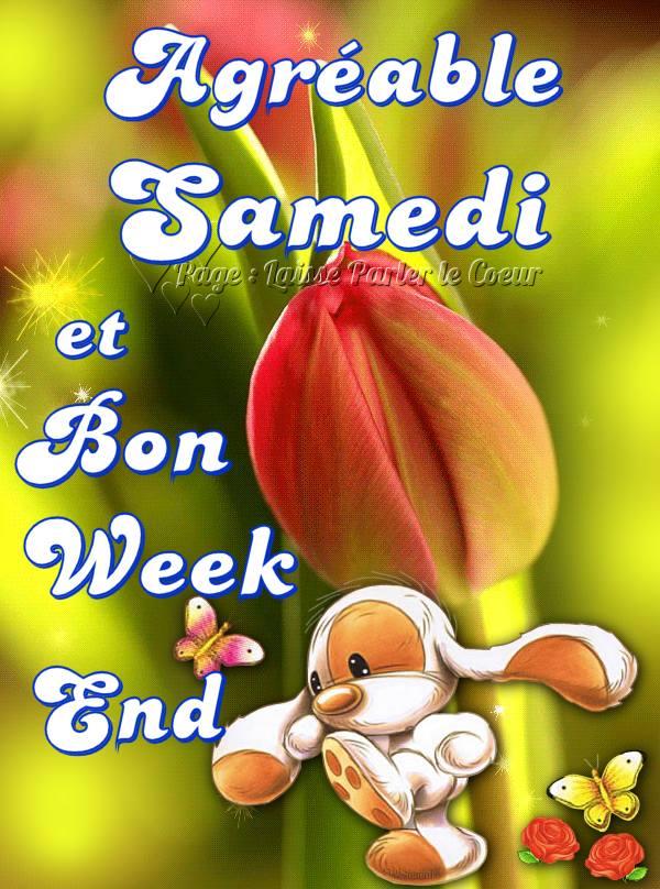 Agrèable Samedi et Bon week end