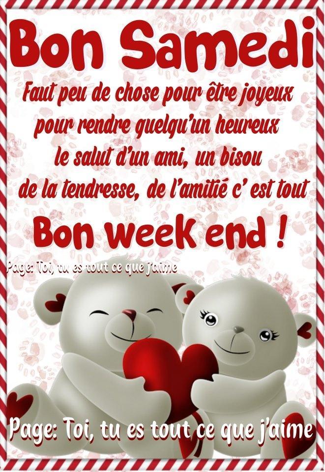 Bon Samedi Bon week end !
