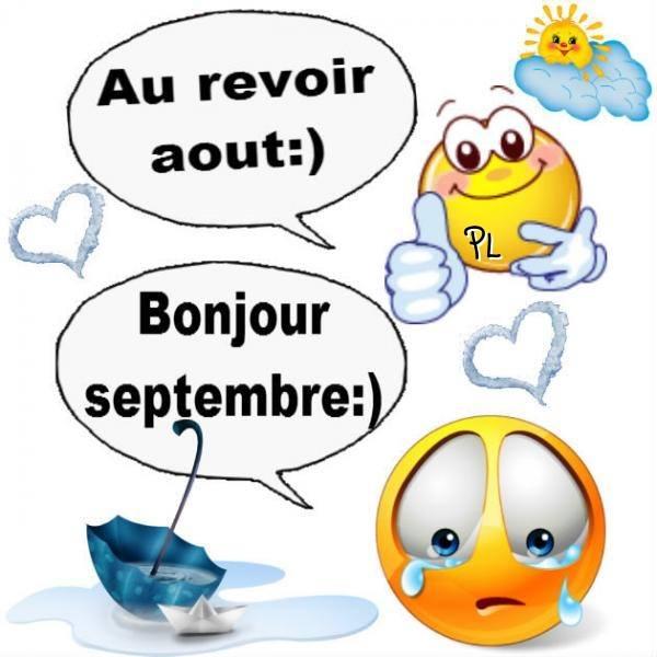 Au revoir août :) Bonjour septembre :)