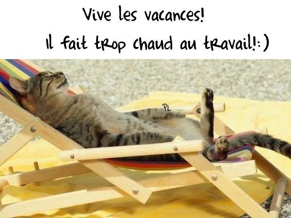 Vive les vacances! Il fait trop chaud au...