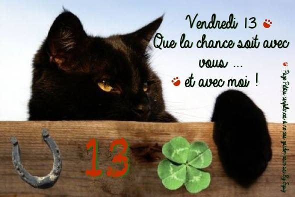 Vendredi 13 images photos et illustrations pour facebook for 13 porte malheur