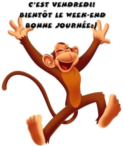 C'est vendredi! Bientôt le week-end. Bonne journée :)