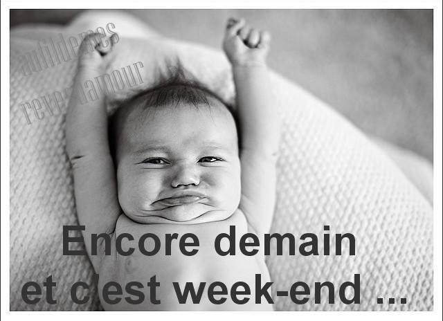 Encore demain et c'est week-end ...