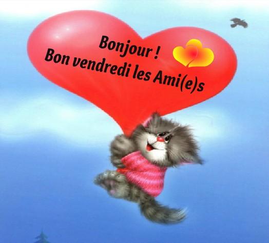 Bonjour ! Bon vendredi les Ami(e)s