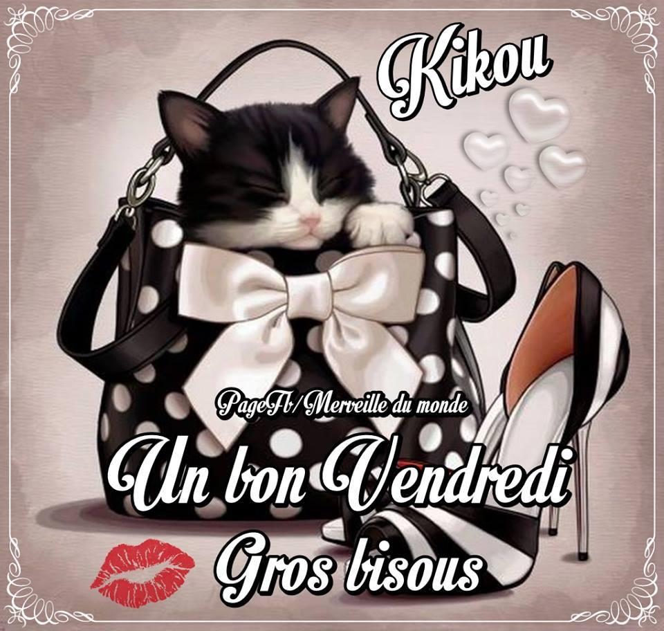 Kikou, un bon vendredi, gros bisous